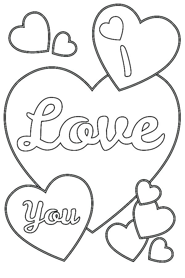 600x900 I Love You Printable Coloring Pages Love You Coloring Pages Free