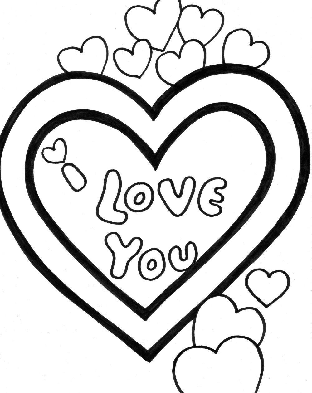 1000x1260 I Love You Coloring Pages Valentine