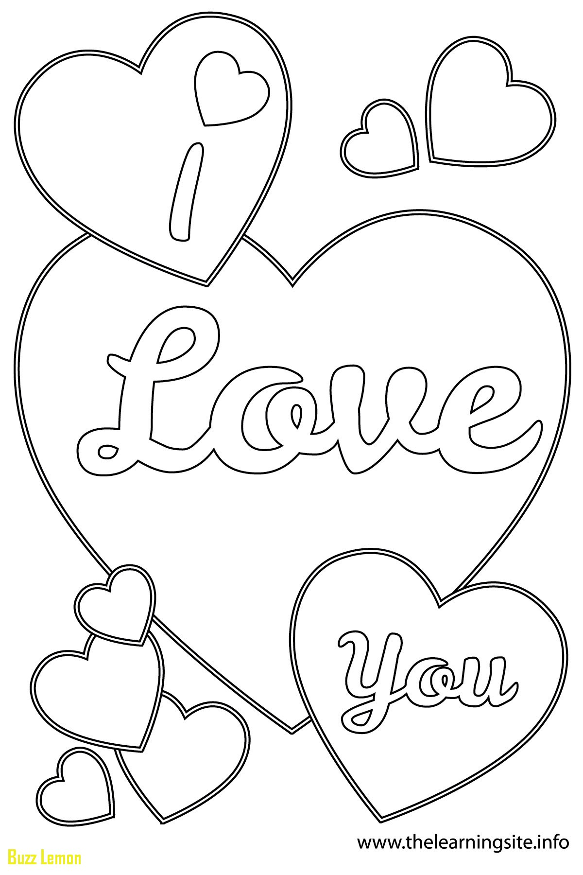 1200x1800 Beautiful Coloring Page I Love You Buzz Coloring