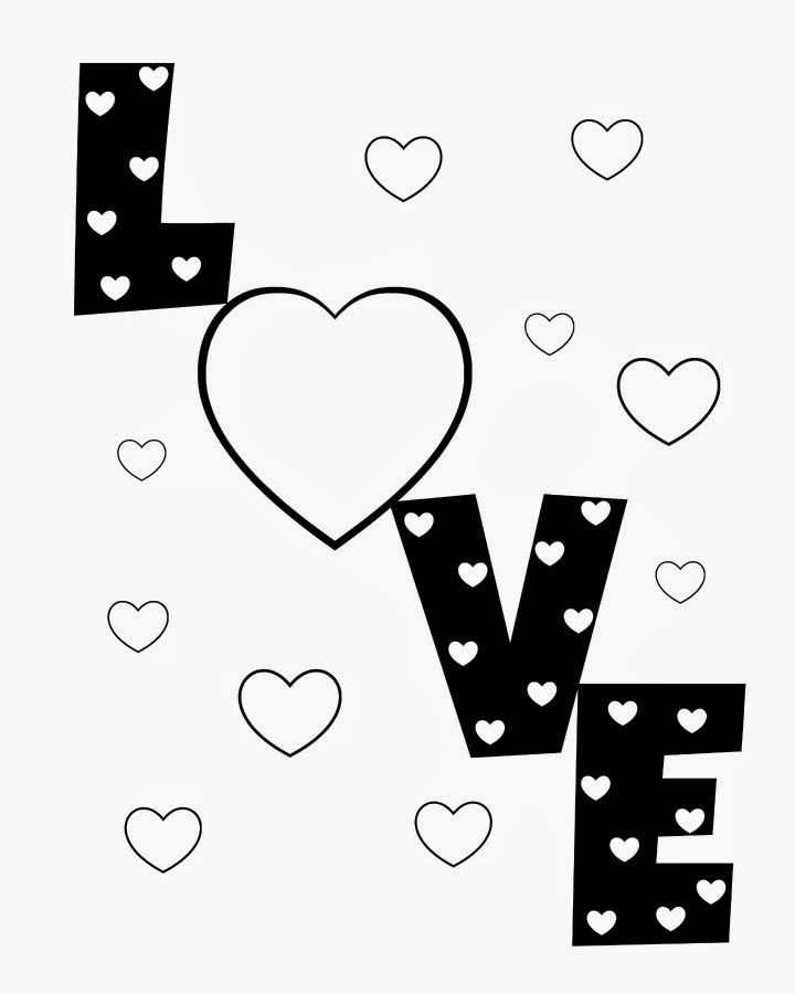 720x900 Coloring Pages Hearts That Say I Love You Coloring Pages