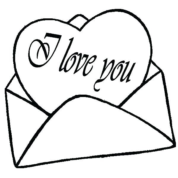 600x600 Heart For Coloring I Love You Heart Coloring Pages Cute Heart