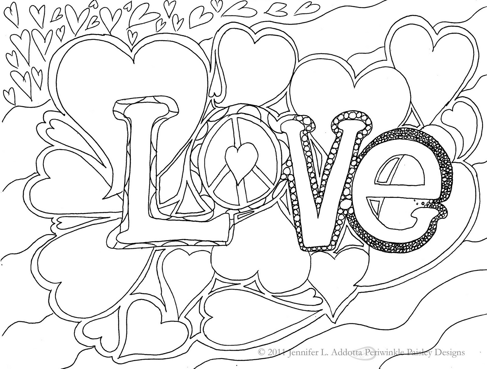 I Love Coloring Pages