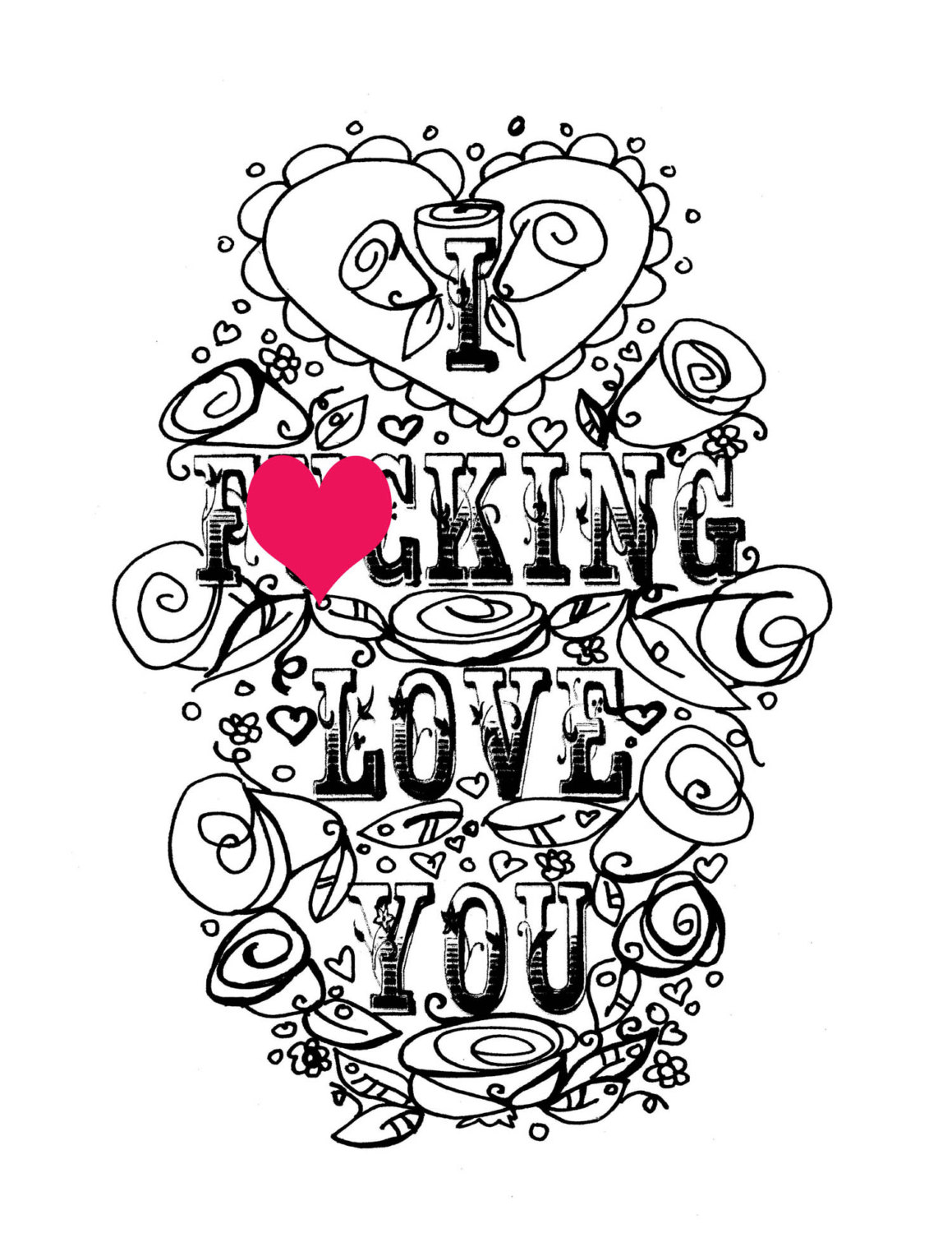 I Love Coloring Pages at GetDrawings.com | Free for personal ...