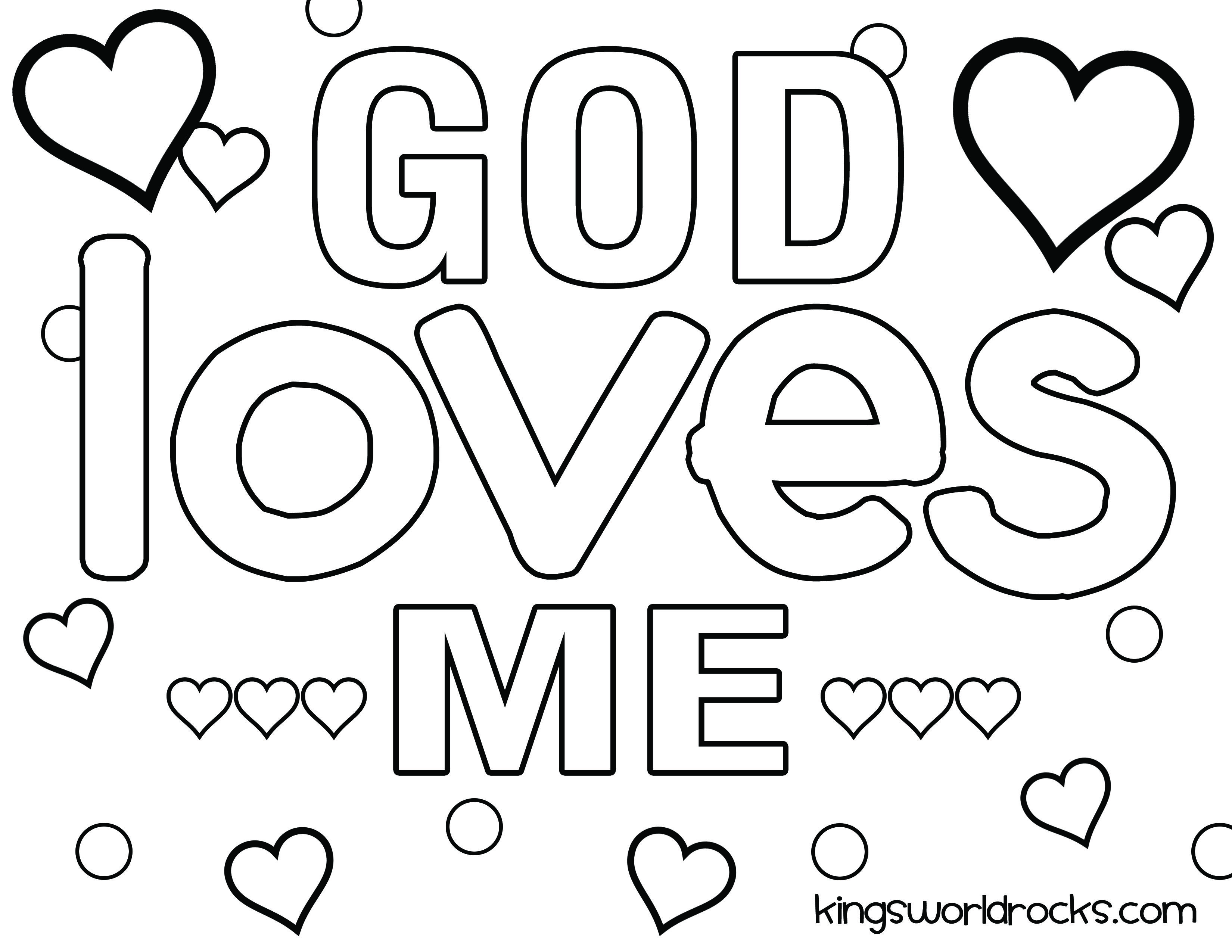 3300x2550 God Is Love Coloring Pages
