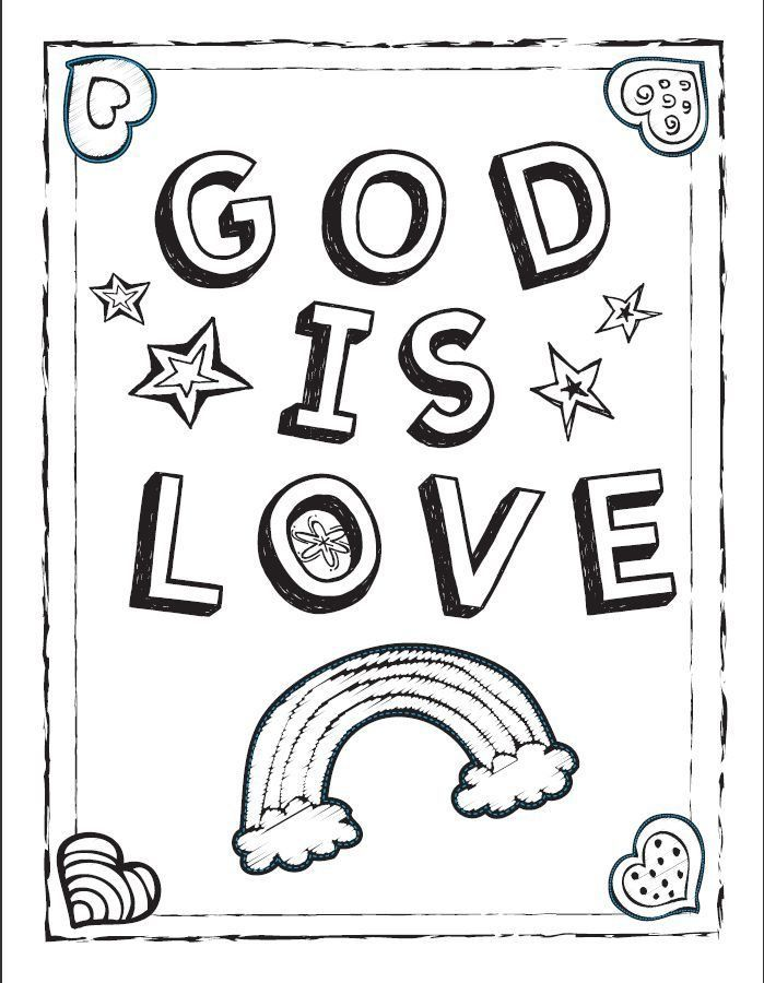 699x900 God Is Love Coloring Pages