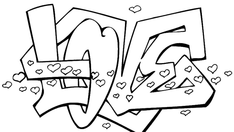 750x425 Printable Love Coloring Pages