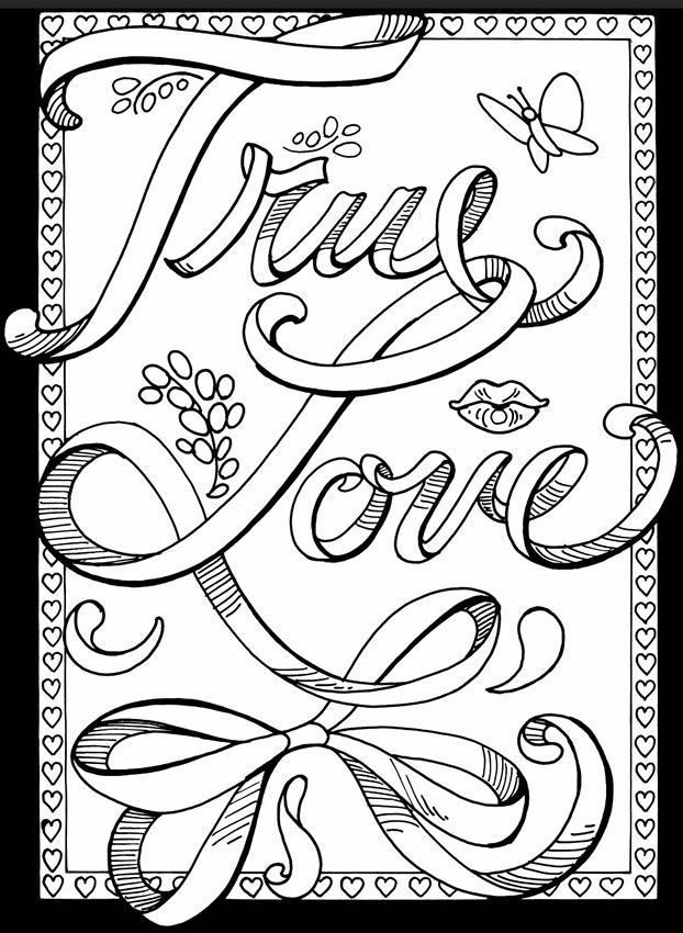 622x850 Printable Love Coloring Pages For Adults Coloring Panda Within