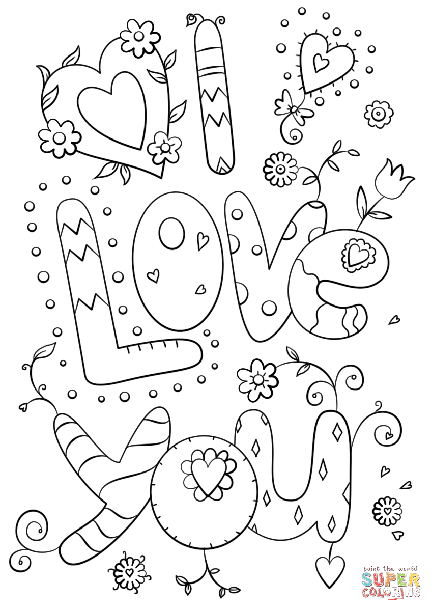 849x1200 I Love You Coloring Page Free Printable Coloring Pages Printable