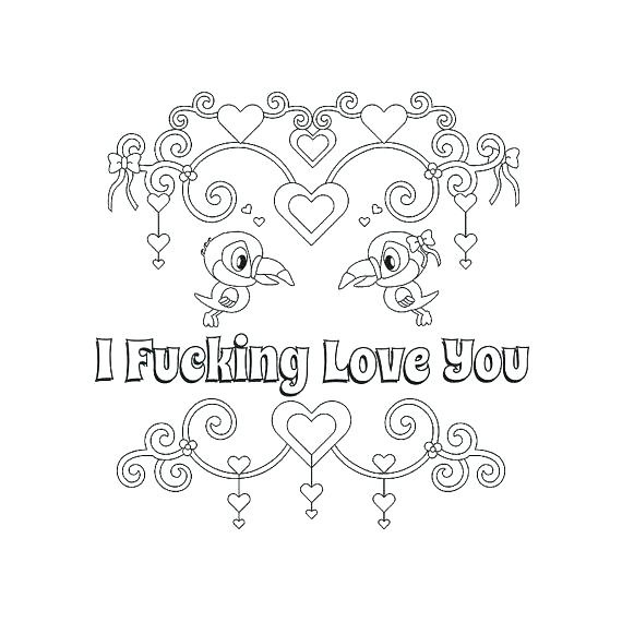 570x570 Coloring Pages Of I Love You I Love You Coloring Pages Love You