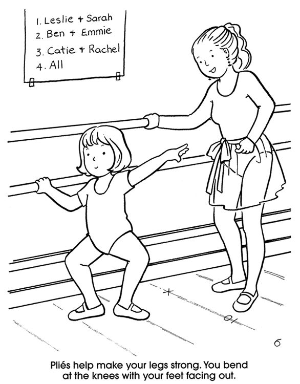 I Love Dance Coloring Pages