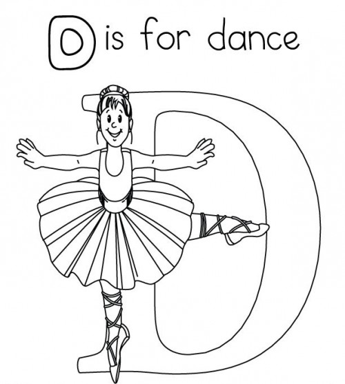 500x557 I Love Dance Coloring Pages