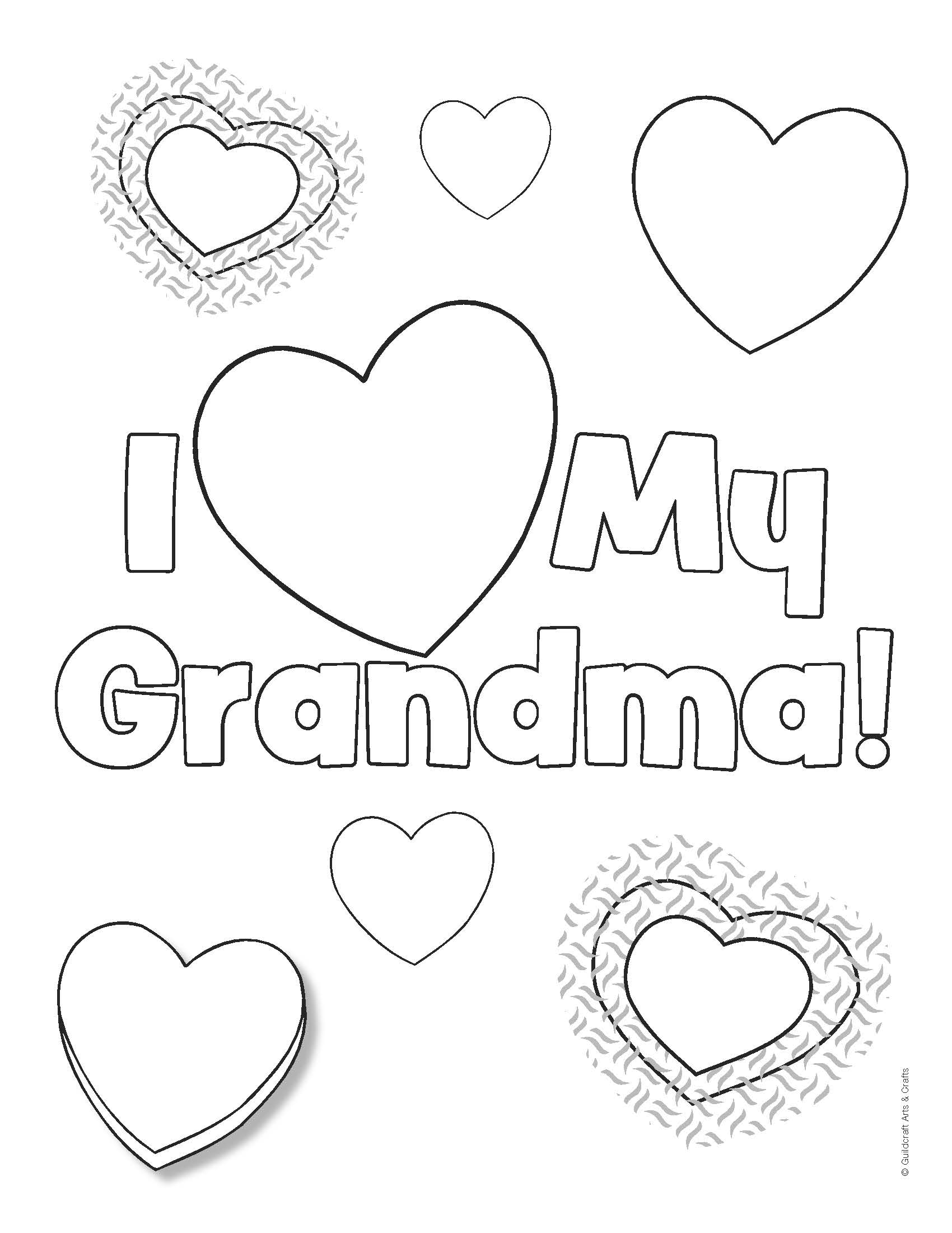 1700x2200 I Love Grandma Coloring Pages