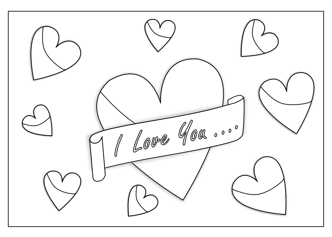 1111x794 I Love You Coloring Pages