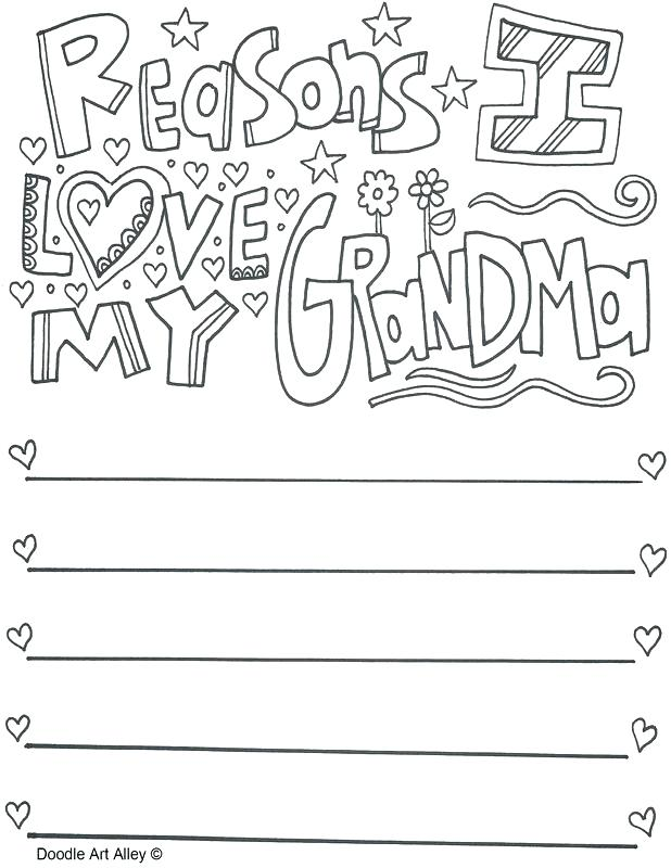 618x800 I Love You Grandma Coloring Pages Happy Grandparents Day Coloring