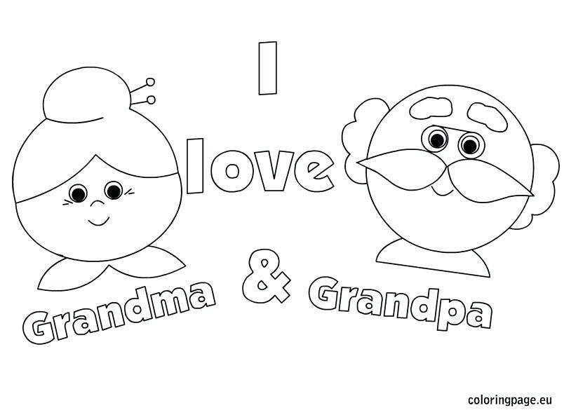 804x595 I Love You Grandma Coloring Pages I Love Grandma And Grandpa We