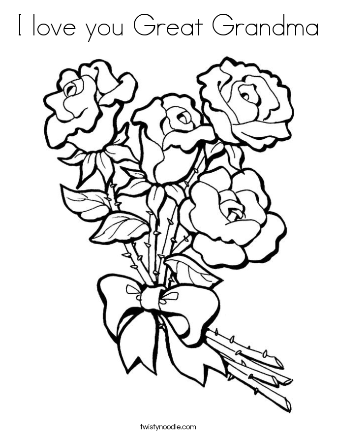 685x886 I Love You Great Grandma Coloring Page