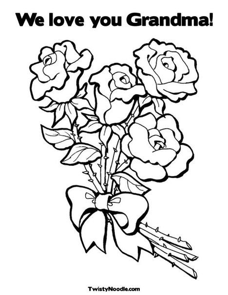 468x605 Customizable Coloring Pages For All Occasions We Love You Grandma