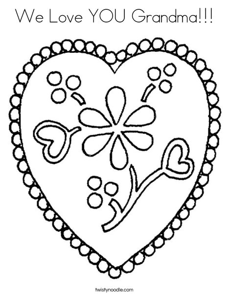 468x605 We Love You Grandma Coloring Page