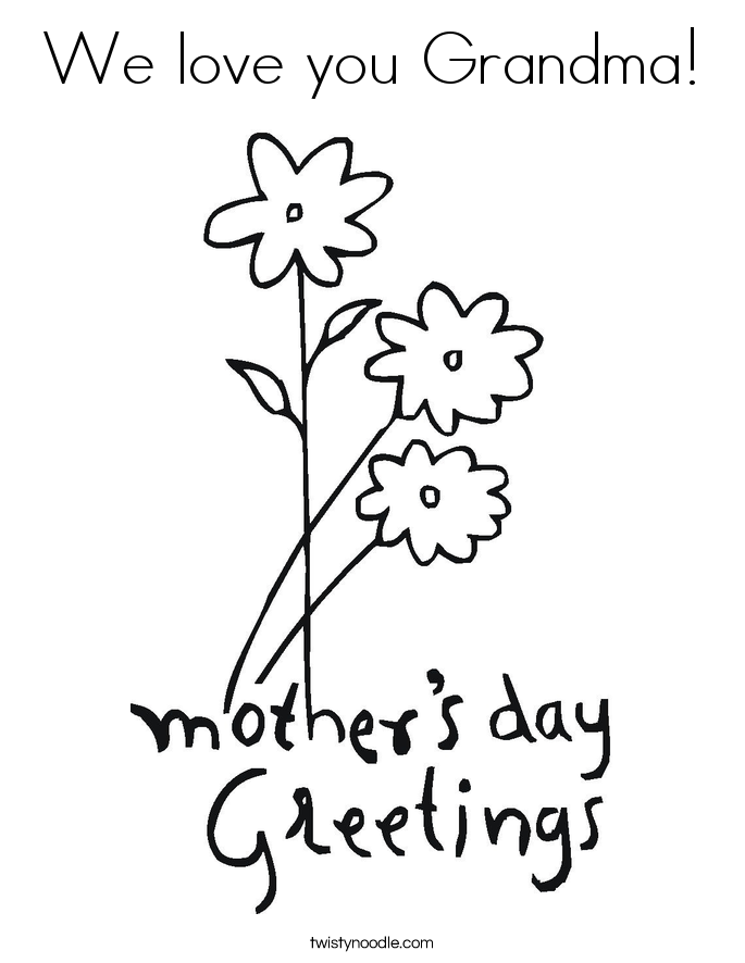 685x886 We Love You Grandma Coloring Page