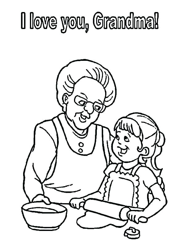 600x800 I Love You Grandma Coloring Pages