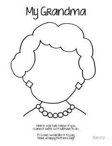 232x300 Grandparent Coloring Pages For Grandparents Day Grandparents