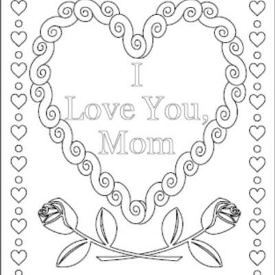 400x400 I Love You Coloring Pages Love You Mommy Coloring Pages I Love