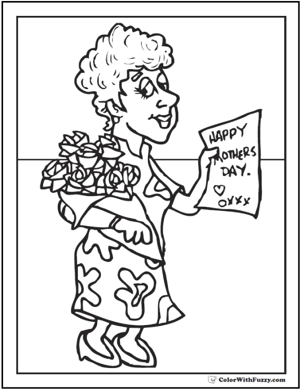 I Love Mom Coloring Pages Printable