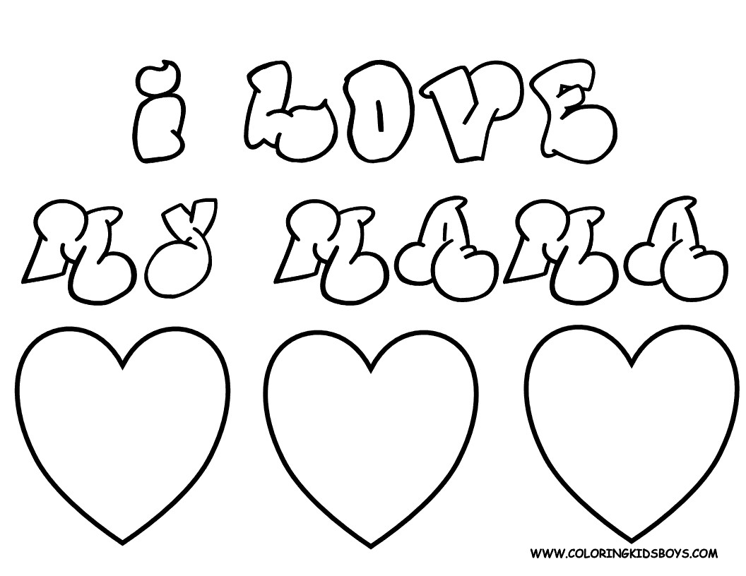 1056x816 I Love You Coloring Page Free Printable Pages Endear Wagashiya