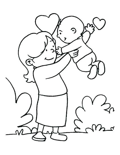 420x543 I Love Mom Coloring Pages Printable Deepart