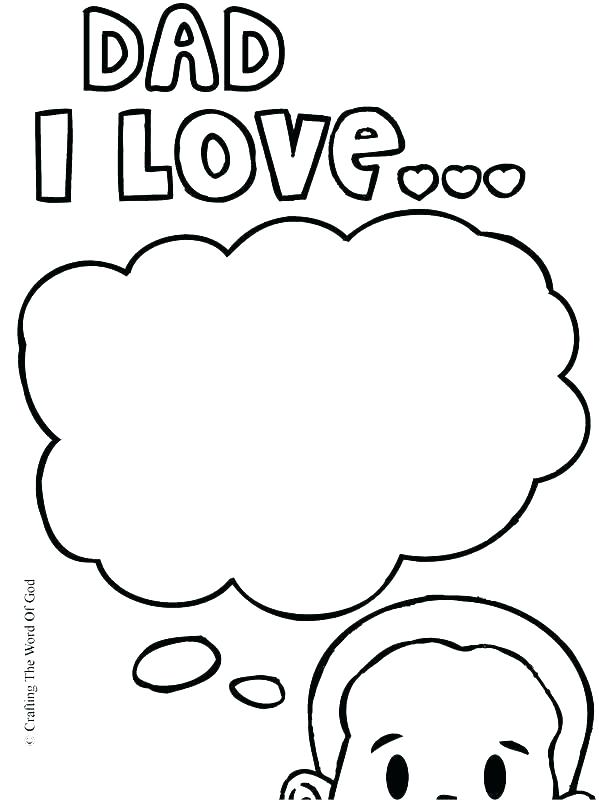 599x800 I Love You Dad Coloring Pages I Love My Daddy Coloring Pages I