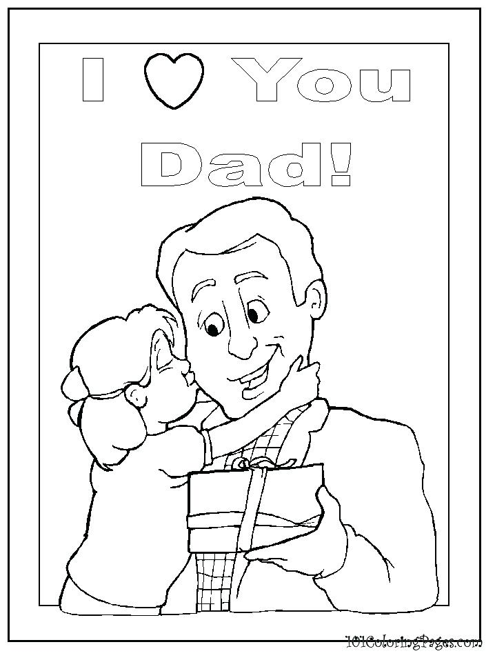 718x957 I Love Dad Coloring Pages Printable Coloring I Love Dad Coloring