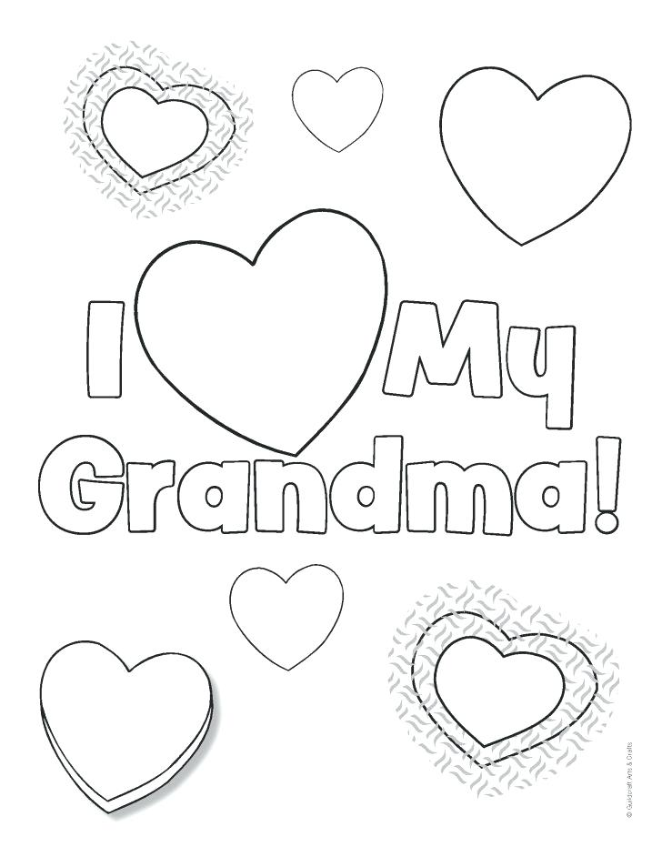728x942 Happy Grandparents Day Coloring Pages