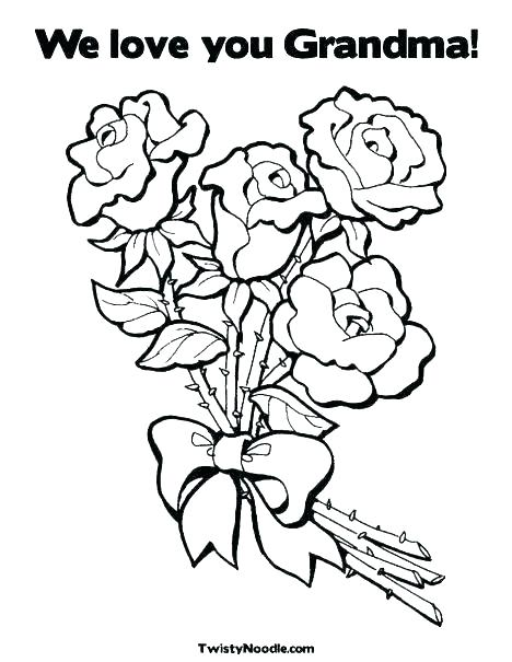 468x605 I Love Grandma Coloring Pages Heart With Flowers Coloring Page I