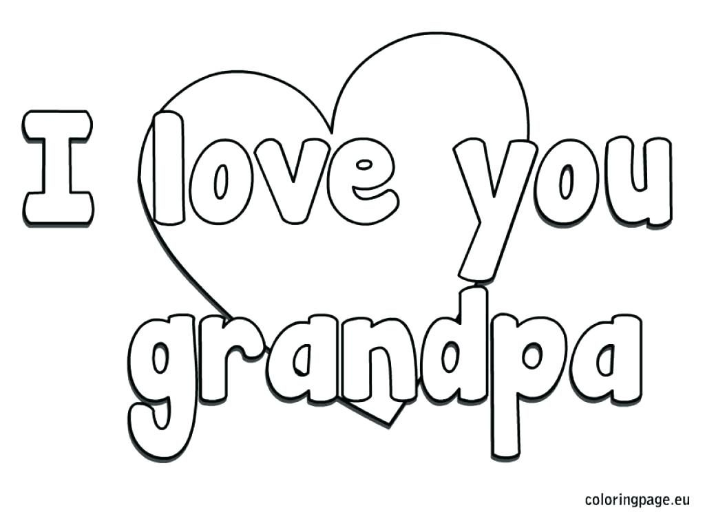 1024x757 I Love My Grandparents Coloring Page