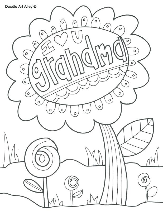 618x800 I Love You Grandma Coloring Pages Grandparents Day Series Best