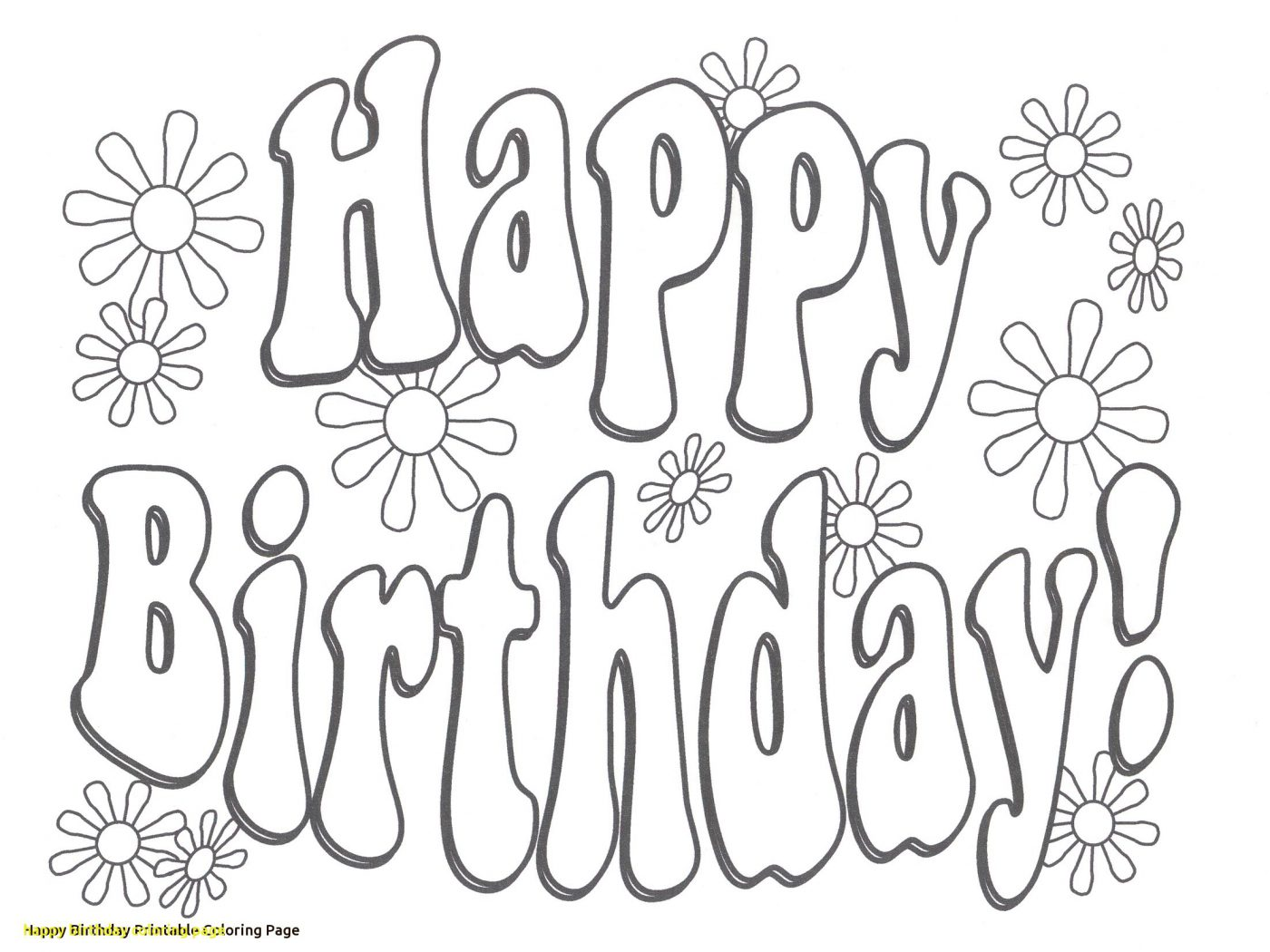 1400x1050 Printable Happy Birthday Grandpa Coloring Pages Colouring Great