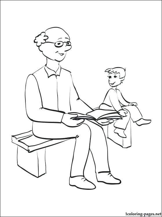 560x750 Grandparents Coloring Page Grandfathers Day Coloring Page I Love