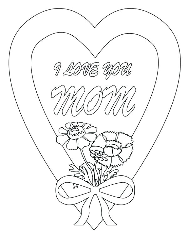I Love My Mom Coloring Pages