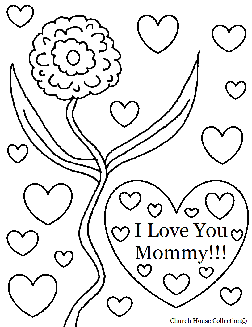 816x1056 Unlock I Love My Mom Coloring Pages You Mommy