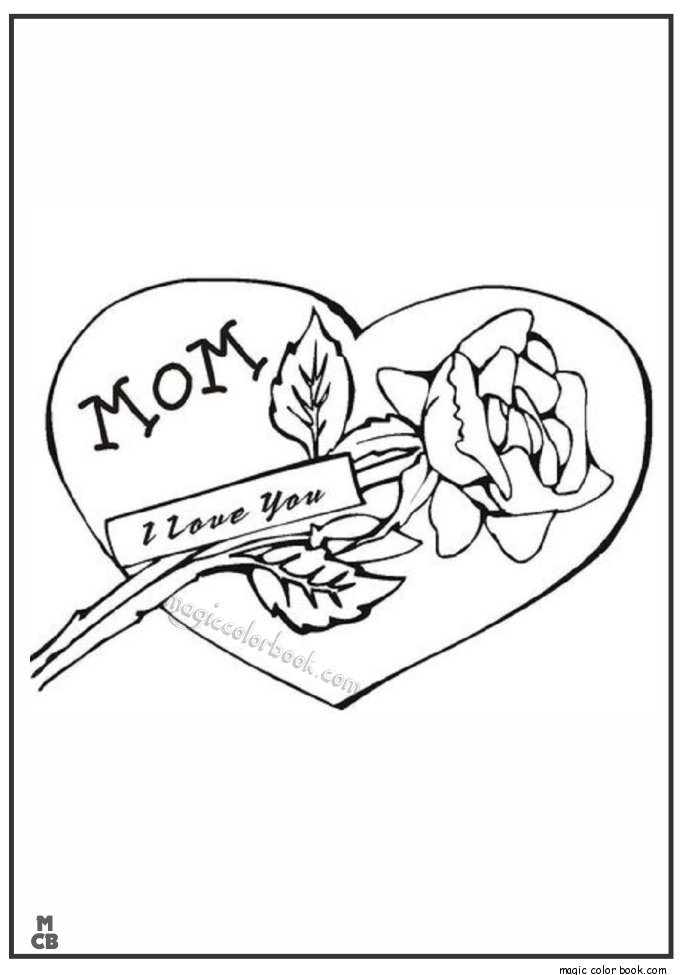 685x975 I Love My Mom Day Coloring Pages