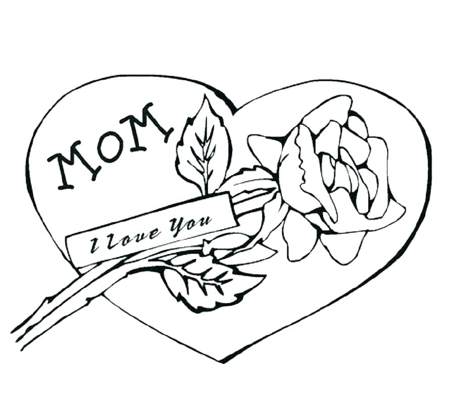 889x822 I Love You Mommy Coloring Pages Coloring Ideas Pro