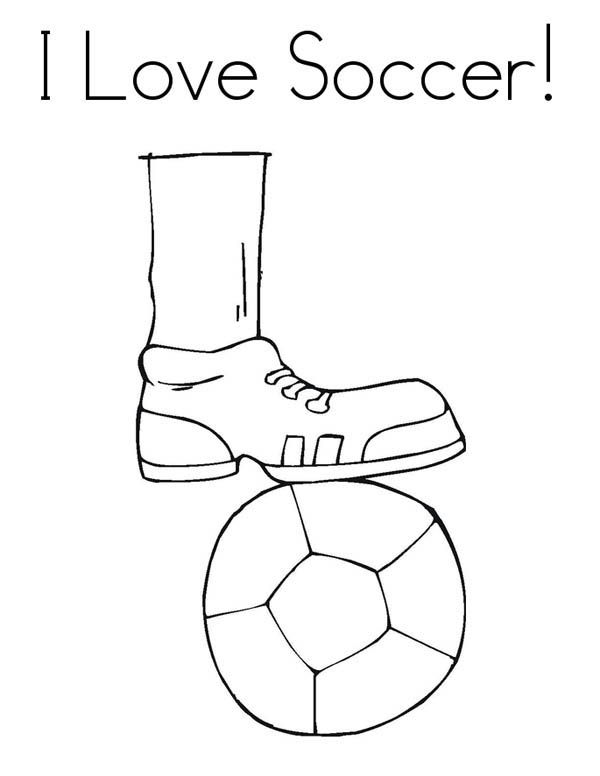 600x776 I Love To Play Soccer Pamphlet Coloring Page