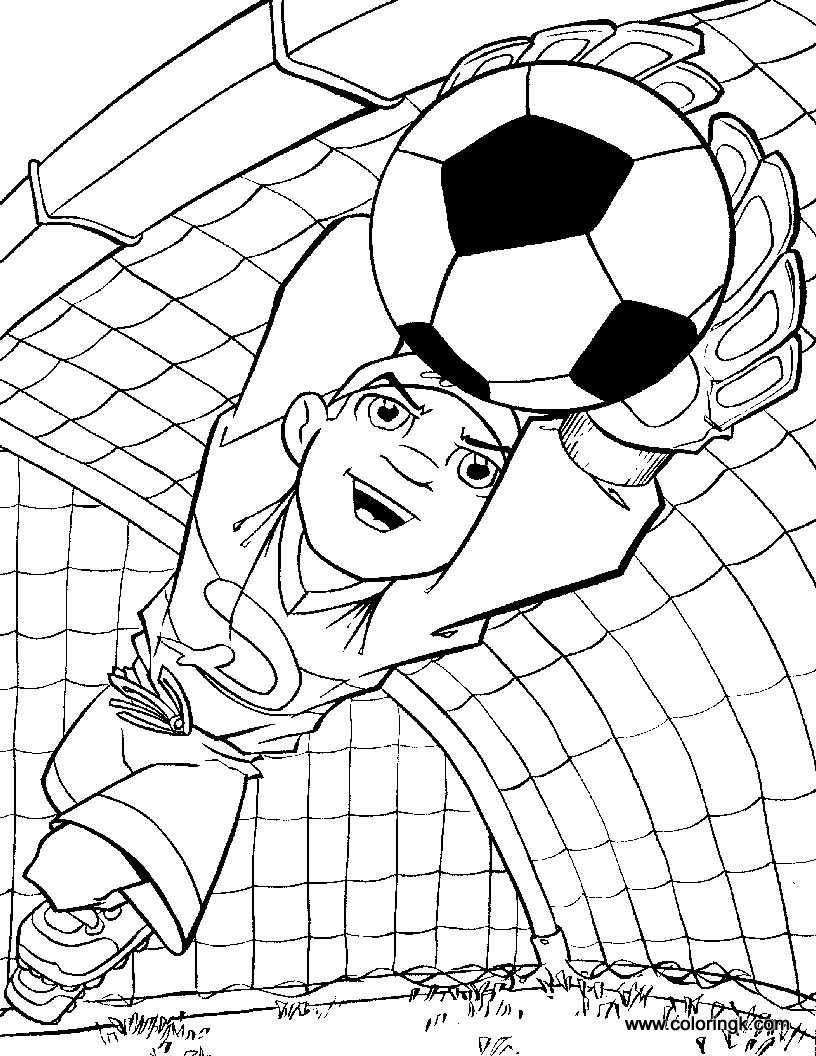 816x1056 Soccer Coloring Pages