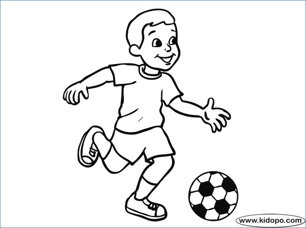 630x470 Soccer Coloring Pages To Print Out