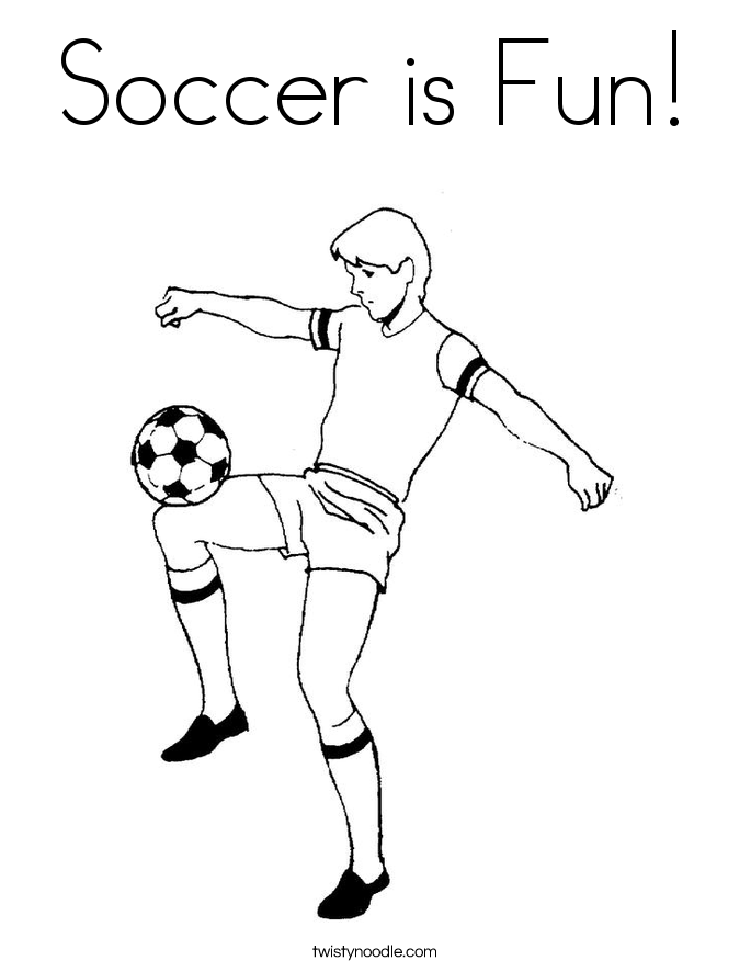 685x886 Soccer Is Fun Coloring Page