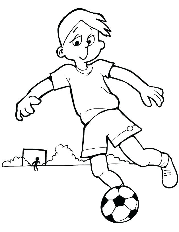 629x815 Coloring Pages Soccer