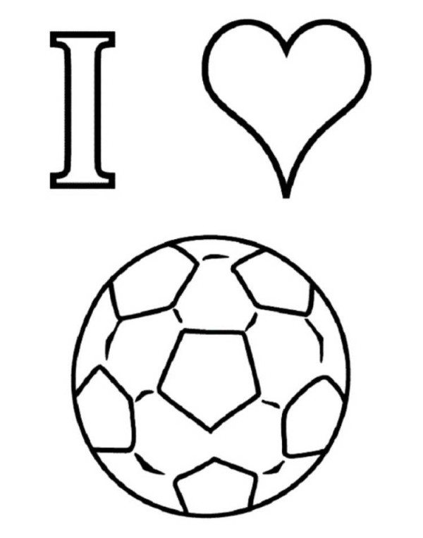 600x763 I Love Soccer Coloring Pages