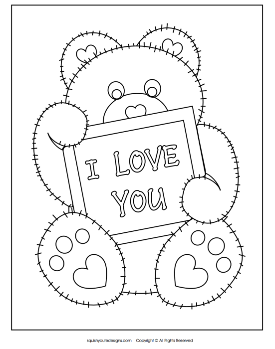551x700 I Love You Coloring Pages Printable Free Printable I Love You