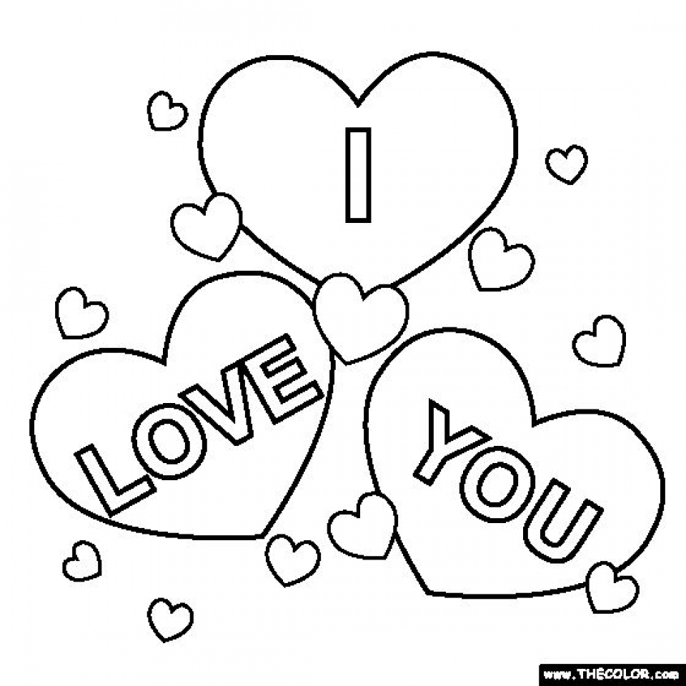 960x960 I Love You Color Pages Get This Free Coloring For Kids I