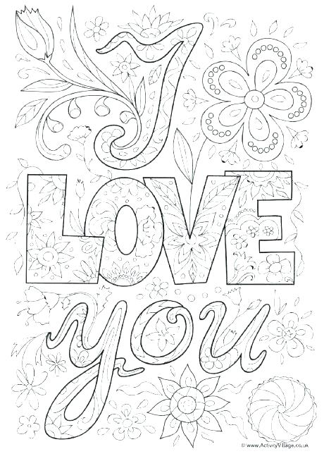 460x654 I Love You Color Pages Printable Love Coloring Pages Love You